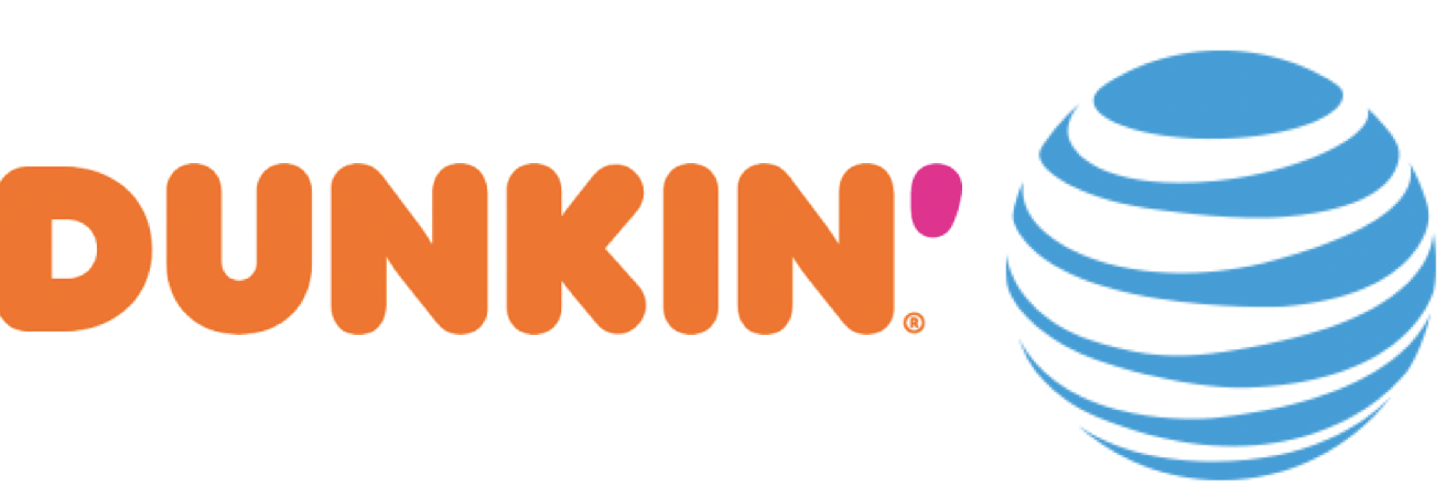 Dunkin' Donuts/AT&T/The Refinery/Fitness First Logo